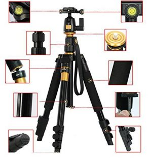 XCSOURCE-Profeshional-Portable-Magnesium-Aluminium-Alloy-Tripod-Monopod-Ball-Head-For-DSLR-SLR-Camera-DV-Canon-Nikon-Petax-Sony-Tripod-Q-555-Max-Height-559-Max-Load-8KG-0-6